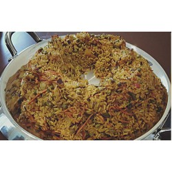 A wreath of fried rice