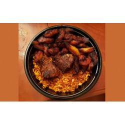 Jollof Rice with Fried Plantain