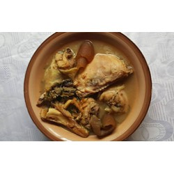 Ofe Nsala using Yam